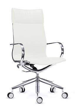 Draaistoel Wit Leer.Ws1069 Bureaustoel Mercury Wit Leer Schaaf Office Kantoormeubelen