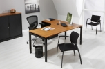 Wingbureau 4Q-Black 180x120cm links